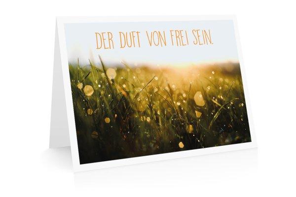 Grußkarte Der Duft von frei sein